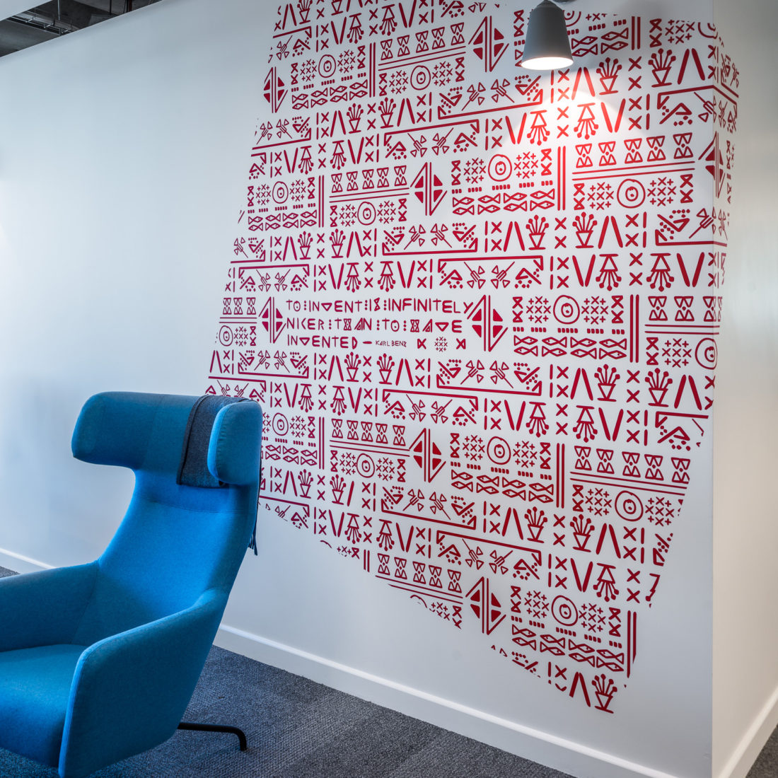 LinkedIn Dublin wall graphics